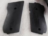 Grips for S&W model 39 439 639 Triple K Ebony finish hardwood GR1951G with Smith & Wesson Logos NIB - 2 of 8