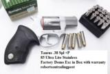 Taurus .38 Special +P Model 85 Ultra Lite Stainless Smith & Wesson Model 637 Airweight Chief copy Snub Nose 38 Spl 2 inch 17 oz Lightweight Alloy Exce - 15 of 15