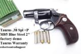 Taurus .38 Special +P Model 85 Blue Steel Snub with Walnut Combat Grips Smith & Wesson Model 36 Chief's Special copy Snub Nose 38 Spl 2 inch 21 oz Exc - 1 of 15