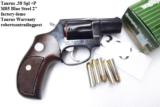 Taurus .38 Special +P Model 85 Blue Steel Snub with Walnut Combat Grips Smith & Wesson Model 36 Chief's Special copy Snub Nose 38 Spl 2 inch 21 oz Exc - 15 of 15