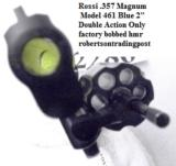Rossi .357 Magnum model 461 Blue Steel 2 inch 6 Shot DAO Bobbed Hammer Excellent in Box Factory Demo Walnut Grips Discontinued S&W K Colt D Frame type - 7 of 15