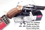 Rossi .357 Magnum model 461 Blue Steel 2 inch 6 Shot DAO Bobbed Hammer Excellent in Box Factory Demo Walnut Grips Discontinued S&W K Colt D Frame type - 14 of 15