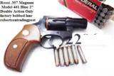 Rossi .357 Magnum model 461 Blue Steel 2 inch 6 Shot DAO Bobbed Hammer Excellent in Box Factory Demo Walnut Grips Discontinued S&W K Colt D Frame type - 15 of 15