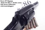 Rossi .357 Magnum model 461 Blue Steel 2 inch 6 Shot DAO Bobbed Hammer Excellent in Box Factory Demo Walnut Grips Discontinued S&W K Colt D Frame type - 4 of 15