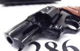 Rossi .357 Magnum model 461 Blue Steel 2 inch 6 Shot DAO Bobbed Hammer Excellent in Box Factory Demo Walnut Grips Discontinued S&W K Colt D Frame type - 10 of 15
