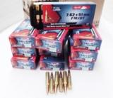 .308 Winchester Aguila 200 round Lot of 10 Boxes 150 grain Boat Tail FMC Brass Case Full Metal Jacket Remington Eley Affiliate Mexico 10x$16.90 Ammuni - 1 of 13