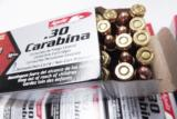 .30 Carbine 250 Round Lot of 5 Boxes Aguila 110 grain FMC Brass Case Full Metal Jacket Remington Affiliate 5x$24.50 - 4 of 14
