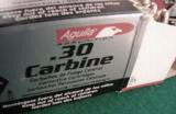 .30 Carbine 250 Round Lot of 5 Boxes Aguila 110 grain FMC Brass Case Full Metal Jacket Remington Affiliate 5x$24.50 - 8 of 14