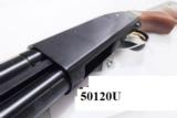 Mossberg 12 gauge model 500 Bantam 12 3/4 Buttstock Trench Gun type 18 inch Bright Blue & Checkered Hardwood 3 inch Vented Heat Shield Recoil Pad Exce - 6 of 14