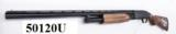 Mossberg 12 gauge model 500 Bantam 12 3/4 Buttstock Trench Gun type 18 inch Bright Blue & Checkered Hardwood 3 inch Vented Heat Shield Recoil Pad Exce - 1 of 14