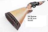 Mossberg 12 gauge model 500 Bantam Youth length 12 3/4 Length of Pull Bright Blue & Checkered Hardwood 3 inch 24 inch Ported Vent Rib Accu-choke Recoi - 11 of 13