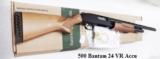 Mossberg 12 gauge model 500 Bantam Youth length 12 3/4 Length of Pull Bright Blue & Checkered Hardwood 3 inch 24 inch Ported Vent Rib Accu-choke Recoi - 13 of 13