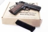 ATI .45 ACP American Tactical Firepower Xtreme 1911A1 Combat Commander Size 45 Automatic 4 1/4 inch Parkerized NIB One 8 shot magazine Series 70 style - 12 of 13