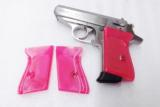 Walther PPK Grips Smith & Wesson variants translucent Hot Pink Polymer No PPKS No PP Screw Not Included adaptable to German & Interarms - 1 of 15