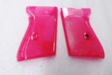 Walther PPK Grips Smith & Wesson variants translucent Hot Pink Polymer No PPKS No PP Screw Not Included adaptable to German & Interarms - 2 of 15