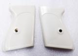 Walther PPK Grips Smith & Wesson variants White Polymer Imitation Ivory No PPKS No PP Screw Not Included adaptable to German & Interarms - 2 of 15