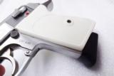 Walther PPK Grips Smith & Wesson variants White Polymer Imitation Ivory No PPKS No PP Screw Not Included adaptable to German & Interarms - 8 of 15