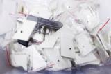 Walther PPK Grips Smith & Wesson variants White Polymer Imitation Ivory No PPKS No PP Screw Not Included adaptable to German & Interarms - 15 of 15
