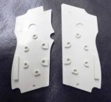 Smith & Wesson model 469 669 Grips Hard Imitation Ivory White Polymer New Replacement S&W 9mm Compacts GR4669W- 5 of 15