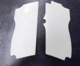 Smith & Wesson model 469 669 Grips Hard Imitation Ivory White Polymer New Replacement S&W 9mm Compacts GR4669W- 1 of 15