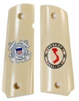 US Coast Guard Colt 1911 Vietnam Military Grips - 1 of 1