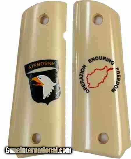 101st Airborne Colt 1911 Afghanistan Military Grips - 1 of 1