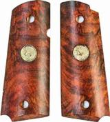 Colt 1911 Officers Model Rosewood Grips With Medallions- 1 of 1