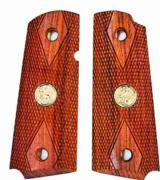 Colt 1911 Officers Model Rosewood Grips With Medallions