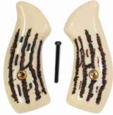Smith & Wesson J Frame Imitation Jigged Bone Grips, Round - 1 of 1