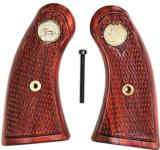 Colt Police Positive Rosewood Checkered Grips with Medallions - 1 of 1