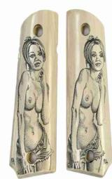 Colt 1911 Real Ivory Scrimshaw Grips with Nude Lady - 1 of 1