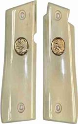 Colt Mustang or Pocketlite Real Ivory With Gold Colt Medallions - 1 of 1
