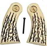 Colt Police Positive Imitation Jigged Bone Grips W Medallions - 1 of 1