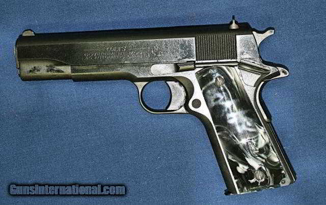 Colt 1911 Pearl Black Grips for sale