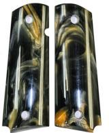 Colt 1911 Pearl Premium Black/Gold Grips - 1 of 2
