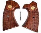 Colt Diamondback Walnut Checkered Grips- 1 of 2