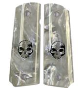 Colt 1911 Pearl Premium Grips With Human Skull - 1 of 1