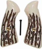 Smith & Wesson J Frame Jigged Bone Grips - 1 of 1
