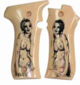 Llama III & IIIA Ivory-Like Grips with Naked Lady - 1 of 1