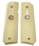 Colt 1911 Ivory-Like Grips With Medallions - 1 of 1