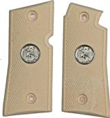 Colt Mustang & Pocketlite Checkered Grips With Medallions - 1 of 1