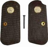 Colt 1903 & 1908 .32 & .380 Auto Faux Wood Grips With Medallions & Screw Set - 1 of 1