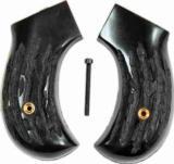Colt 1877 Lightning Imitation Jigged Buffalo Horn Grips - 1 of 1