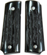 Colt 1911 Officers Model Imitation Jigged Buffalo Horn Grips - 1 of 1