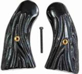 Colt Police Positive Imitation Jigged Buffalo Horn Grips - 1 of 1