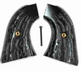 Colt Scout & Frontier Imitation Jigged Buffalo Horn Grips - 1 of 1