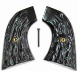 Hawes Great Western Imitation Jigged Buffalo Horn Grips - 1 of 1