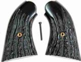 Remington 1858 Uberti Imitation Jigged Buffalo Horn Grips - 1 of 2