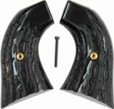 High Standard Double Nine Imitation Jigged Buffalo Horn Grips - 1 of 1