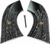 U.S. Firearms S.A. Imitation Jigged Buffalo Horn Grips - 1 of 2